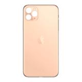 Achterkant back cover glas met logo voor Apple iPhone 11 Pro Max Gold_