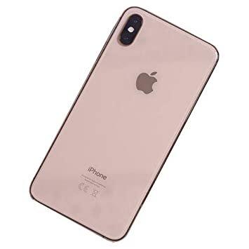 Achterkant back cover glas met logo voor Apple iPhone XS Max Gold