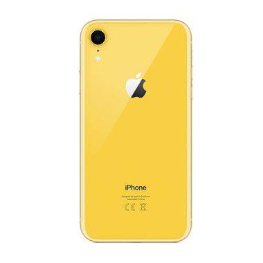 Achterkant back cover glas met logo voor Apple iPhone XR Geel