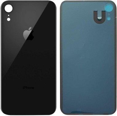 Achterkant back cover glas met logo voor Apple iPhone XR Zwart