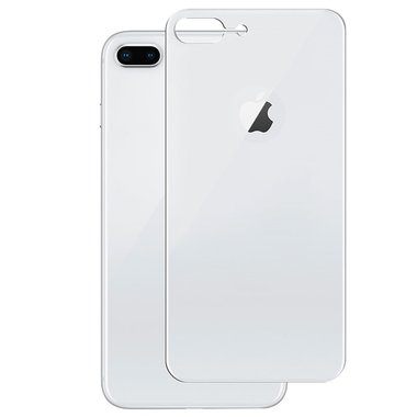 Achterkant back cover glas met logo voor Apple iPhone 8 Plus wit