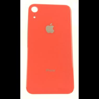 Achterkant back cover glas met logo voor Apple iPhone XR Coral