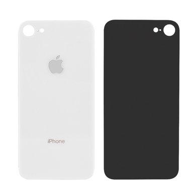 Achterkant back cover glas met logo voor Apple iPhone 8 & SE 2e generatie zilver wit