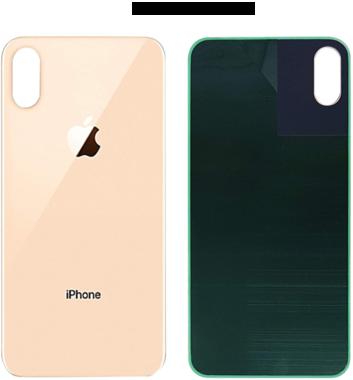 Achterkant back cover glas met logo voor Apple iPhone XS Rosé Gold