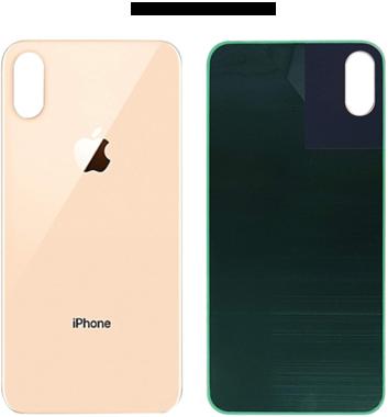 Achterkant back cover glas met logo voor Apple iPhone XS Max Rosé Gold