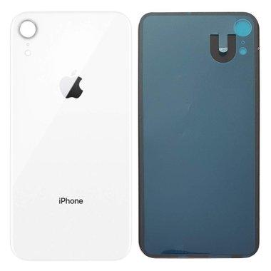 Achterkant back cover glas met logo voor Apple iPhone XR Wit