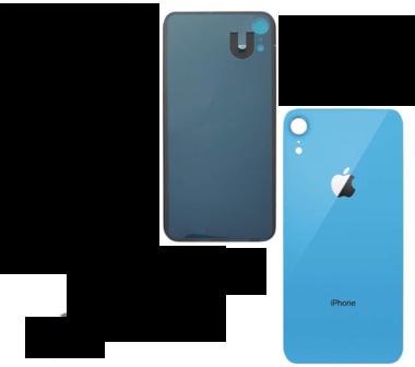 Achterkant back cover glas met logo voor Apple iPhone XR Blauw
