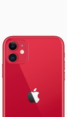 Achterkant back cover glas met logo voor Apple iPhone 11 Red