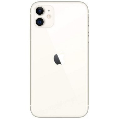 Achterkant back cover glas met logo voor Apple iPhone 11 White