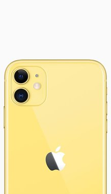 Achterkant back cover glas met logo voor Apple iPhone 11 Yellow