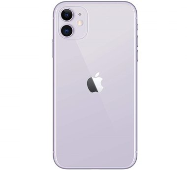Achterkant back cover glas met logo voor Apple iPhone 11 Purple