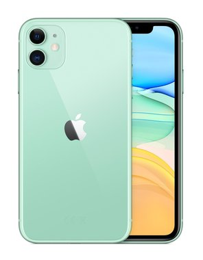 Achterkant back cover glas met logo voor Apple iPhone 11 Green