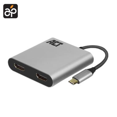 USB-C naar HDMI Dual Monitor MST Hub