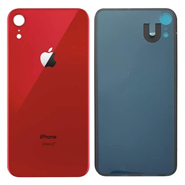 Achterkant back cover glas met logo voor Apple iPhone XR Rood