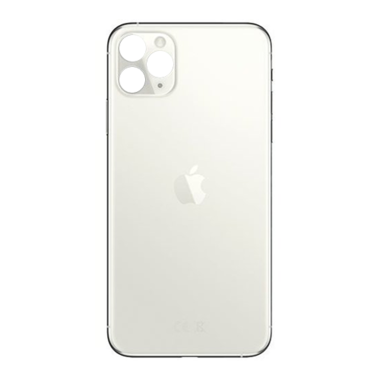 Achterkant back cover glas met logo voor Apple iPhone 11 Pro Max Silver
