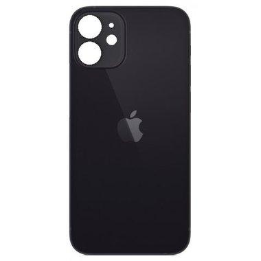 Achterkant back cover glas met logo voor Apple iPhone 12 Zwart