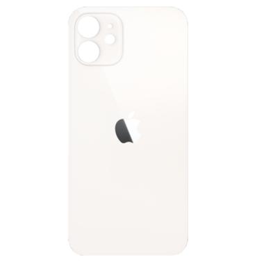 Achterkant back cover glas met logo voor Apple iPhone 12 Wit