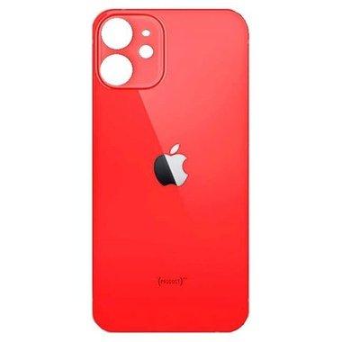 Achterkant back cover glas met logo voor Apple iPhone 12 Rood