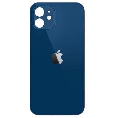 Achterkant back cover glas met logo voor Apple iPhone 12 Blauw