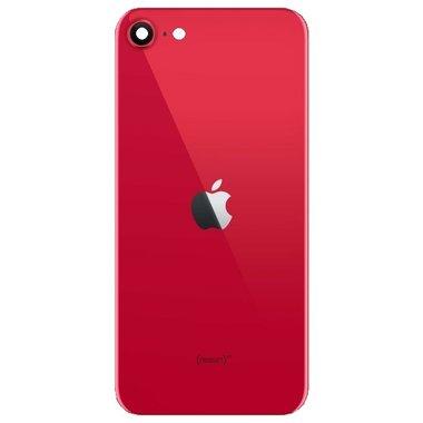Achterkant back cover glas met logo voor Apple iPhone SE 2e generatie Red