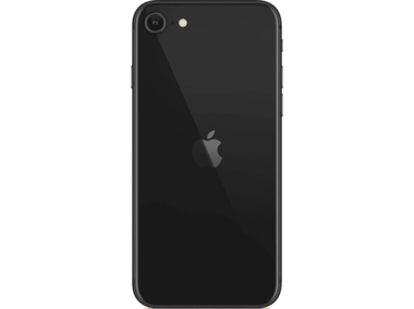 Achterkant back cover glas met logo voor Apple iPhone SE 2e generatie Space Grey