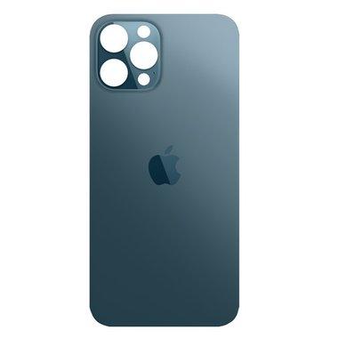 Achterkant back cover glas met logo voor Apple iPhone 12 Pro Max Oceaan blauw