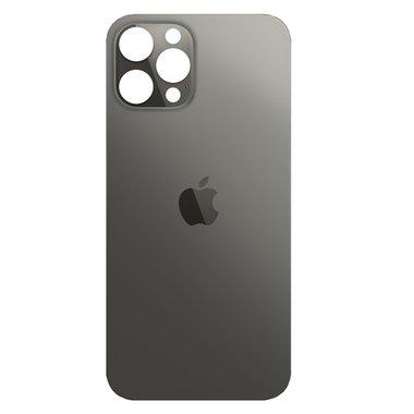 Achterkant back cover glas met logo voor Apple iPhone 12 Pro Max Grafiet