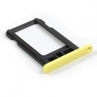 Micro Sim Tray/Simkaart houder voor de Apple iPhone 5C Geel