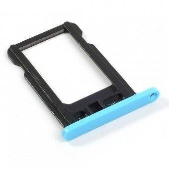 Micro Sim Tray/Simkaart houder voor de Apple iPhone 5C Blauw OEM
