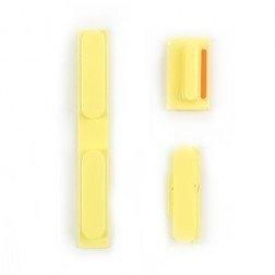 Knoppenset voor de iPhone 5c Geel