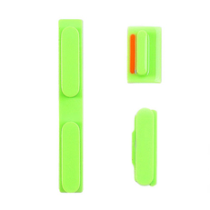 Knoppenset voor de iPhone 5c Groen