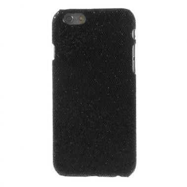 Hard Case met PU Lederen Coating Glitters Zwart voor Apple iPhone 6/6S