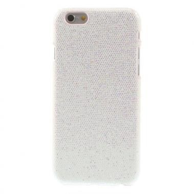 Hard Case met PU Lederen Coating Glitters Wit voor Apple iPhone 6/6S