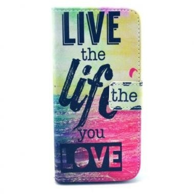 Wallet Book Case Live the Life voor Apple iPhone 6/6S