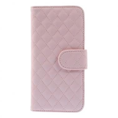 Wallet Book Case Rhombus Patroon Roze voor Apple iPhone 6/6S