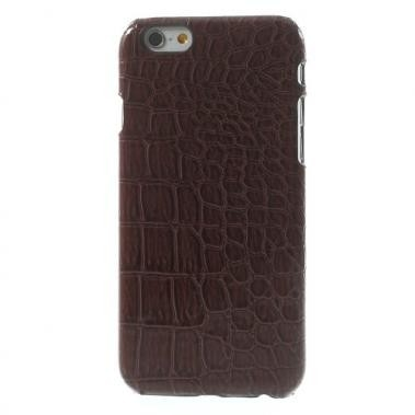 Hard Case me PU Lederen Coating Crocodile Skin Bruin voor Apple iPhone 6/6S