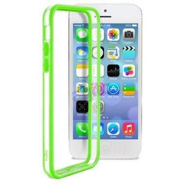 Puro Bumper Case Transparant/Groen voor Apple iPhone 5C