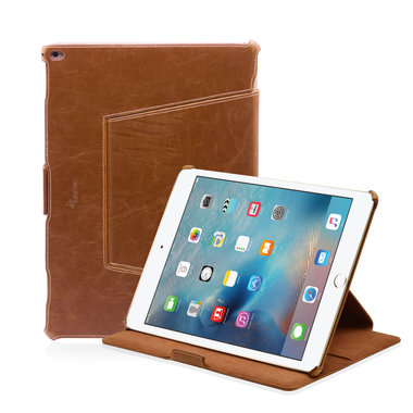 Leicke MANNA iPad Pro Hoes Leer Bruin