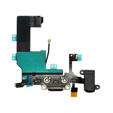 Dockconnector / laadconnector voor Apple iPhone 5 Zwart