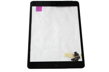 Glas / digitizer met onderdelen voor Apple iPad Mini 1 en iPad mini 2 zwart