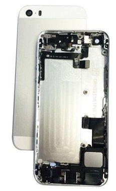 Achterkant compleet met small parts voor de iPhone 5S Wit / Zilver