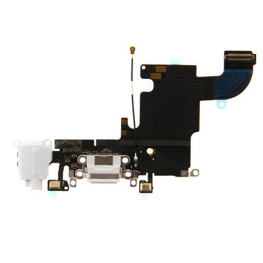 Dockconnector met audio-ingang voor de Apple iPhone 6s Wit OEM