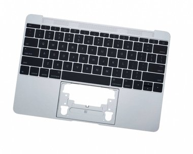 Topcase incl. keyboard Apple MacBook 12-inch A1534 Zilver