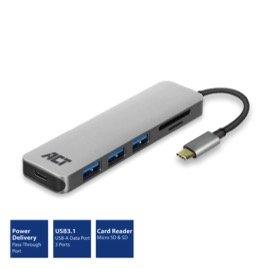 USB-C USB Hub 3-Port & Card Reader