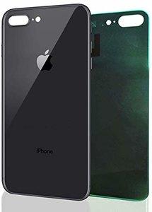 Achterkant back cover glas met logo voor Apple iPhone 8 Plus Space Grey