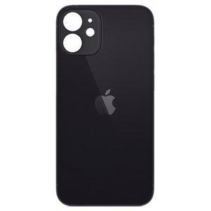 Achterkant back cover glas met logo voor Apple iPhone 12 Mini Zwart